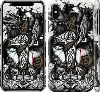 Чехол на iPhone XS Тату Викинг
