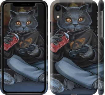 Чехол на iPhone XR gamer cat