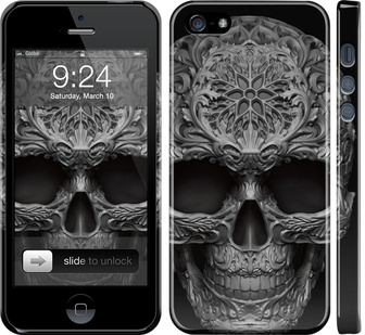 Чехол на iPhone 5 skull-ornament