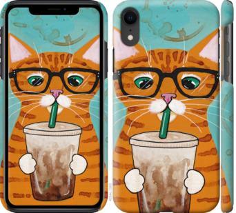 Чехол на iPhone XR Зеленоглазый кот в очках
