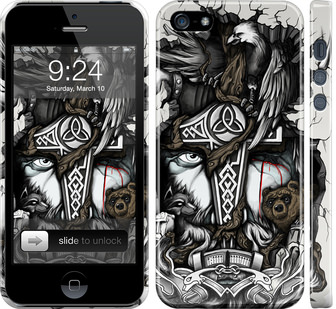 Чехол на iPhone 5s Тату Викинг