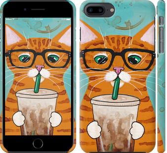 Чехол на iPhone 8 Plus Зеленоглазый кот в очках