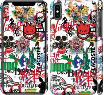 Чехол на iPhone XS Max Many different logos
