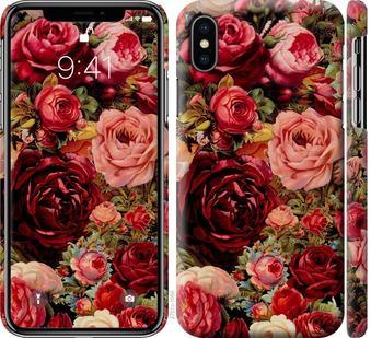 Чехол на iPhone X Цветущие розы