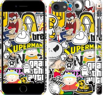 Чехол на iPhone 8 Popular logos