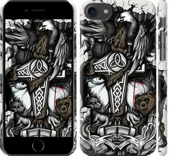 Чехол на iPhone 8 Тату Викинг