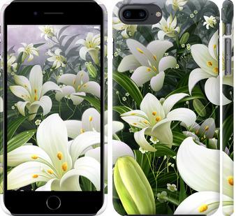 Чехол на iPhone 8 Plus Белые лилии