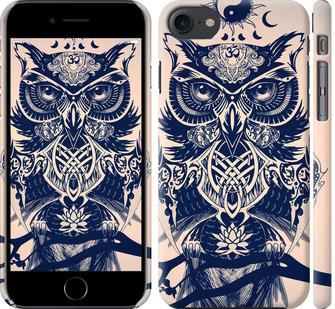 Чехол на iPhone 8 Узорчатая сова