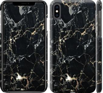 Чехол на iPhone XS Max Черный мрамор