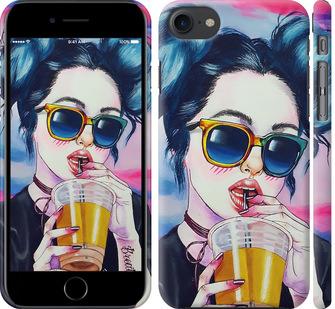 Чехол на iPhone 8 Арт-девушка в очках
