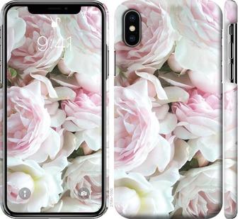 Чехол на iPhone XS Пионы v2