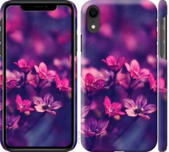 Чехол на iPhone XR Пурпурные цветы