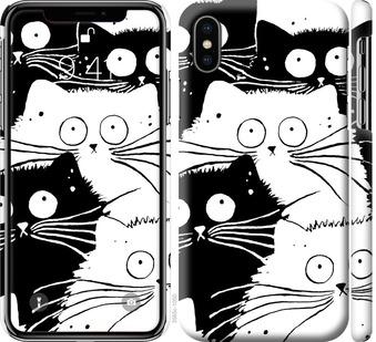 Чехол на iPhone XS Коты v2
