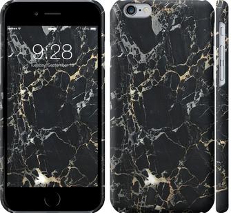 Чехол на iPhone 6s Черный мрамор