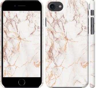 Чехол на iPhone 8 Белый мрамор