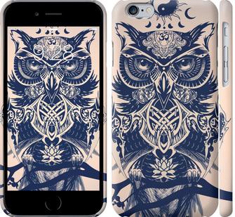 Чехол на iPhone 6 Узорчатая сова