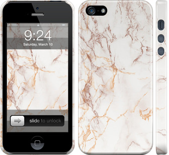 Чехол на iPhone SE Белый мрамор