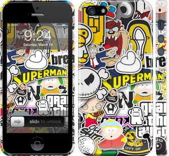 Чехол на iPhone 5 Popular logos