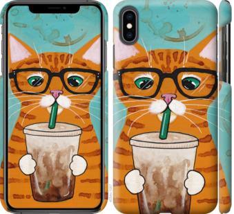 Чехол на iPhone XS Max Зеленоглазый кот в очках