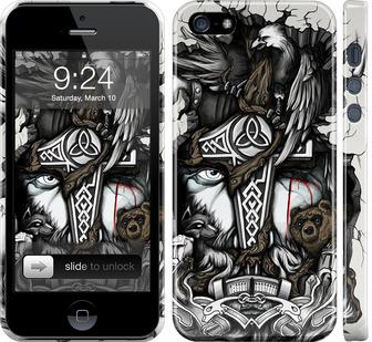 Чехол на iPhone 5 Тату Викинг