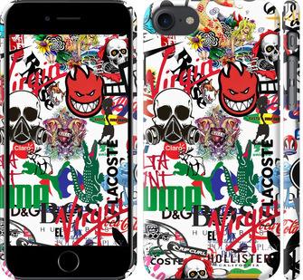 Чехол на iPhone 7 Many different logos