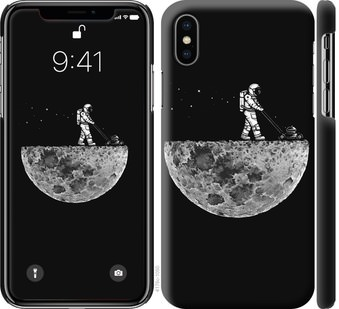 Чехол на iPhone X Moon in dark