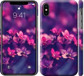 Чехол на iPhone XS Пурпурные цветы