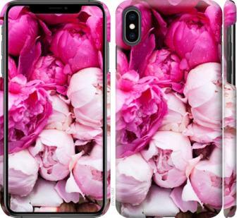 Чехол на iPhone XS Max Розовые пионы