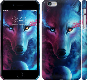 Чехол на iPhone 6 Plus Арт-волк