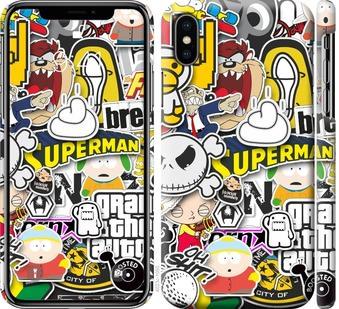 Чехол на iPhone X Popular logos