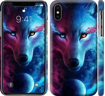 Чехол на iPhone X Арт-волк