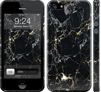 Чехол на iPhone 5s Черный мрамор