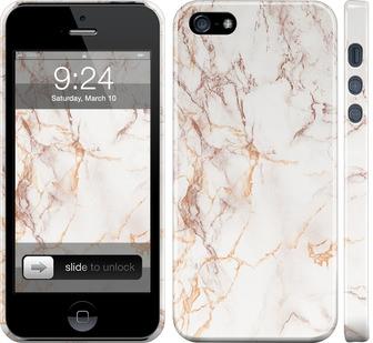 Чехол на iPhone 5 Белый мрамор