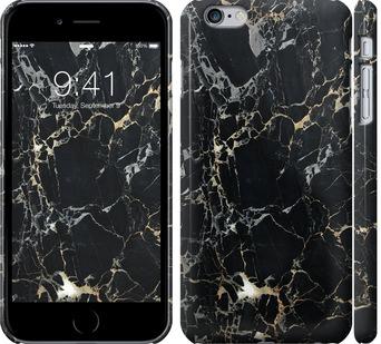 Чехол на iPhone 6 Plus Черный мрамор