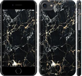 Чехол на iPhone 7 Черный мрамор