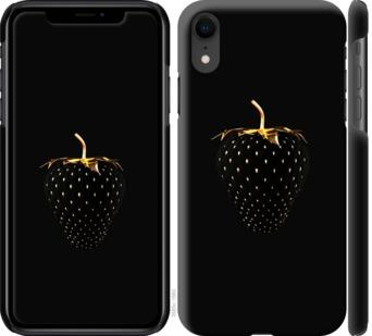 Чехол на iPhone XR Черная клубника