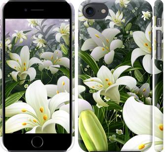 Чехол на iPhone 8 Белые лилии