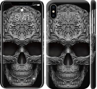 Чехол на iPhone X skull-ornament