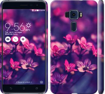 Чехол на Asus Zenfone 3 ZE520KL Пурпурные цветы