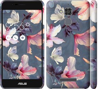 Чехол на Asus Zenfone 3 Max ZC520TL Нарисованные цветы