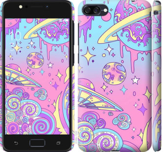 Чехол на Asus ZenFone 4 Max ZC520KL Розовая галактика