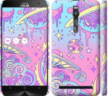 Чехол на Asus Zenfone 2 ZE551ML Розовая галактика