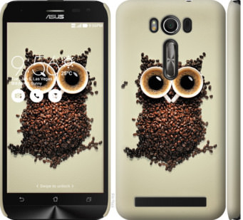 Чехол на Asus ZenFone 2 Laser ZE500KL Сова из кофе