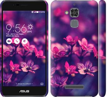 Чехол на Asus Zenfone 3 Max ZC520TL Пурпурные цветы