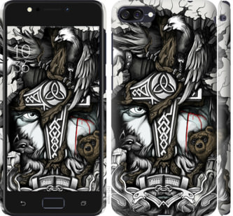 Чехол на Asus ZenFone 4 Max ZC554KL Тату Викинг