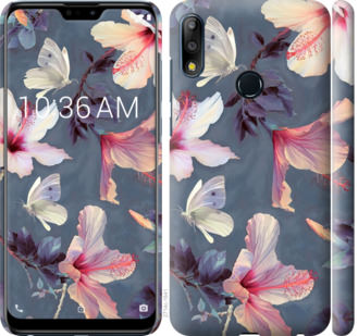 Чехол на Asus Zenfone Max Pro M2 ZB631KL Нарисованные цветы