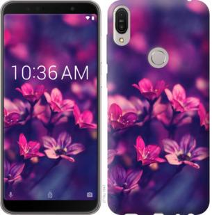 Чехол на Asus ZenFone Max Pro M1 ZB602KL Пурпурные цветы