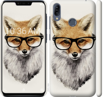 Чехол на Asus Zenfone Max M2 ZB633KL Лис в очках