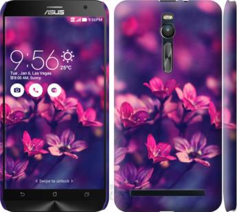 Чехол на Asus Zenfone 2 ZE551ML Пурпурные цветы