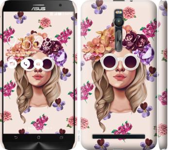 Чехол на Asus Zenfone 2 ZE551ML Девушка с цветами v2